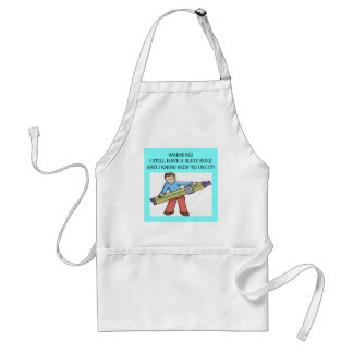 slide rule math humor standard apron