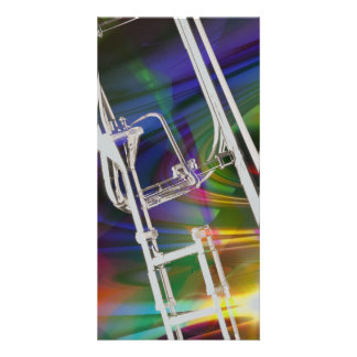 Slide Trombone card or invitation YOU ADD TEXT Photo Card Template