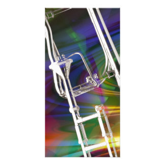 Slide Trombone card or invitation YOU ADD TEXT Photo Greeting Card