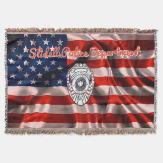 Slidell Police Department Afghan Blanket Throw USA