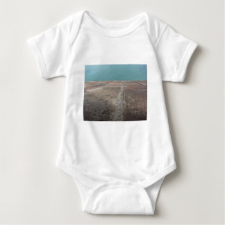 Sliding into the blue sea baby bodysuit