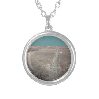Sliding into the blue sea silver plated necklace