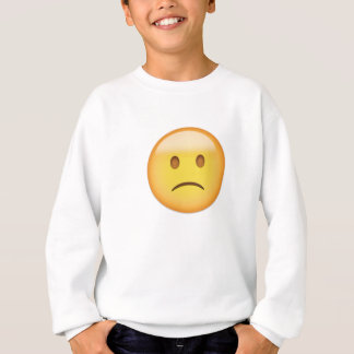 Slightly Frowning Face Emoji Sweatshirt