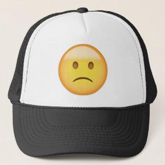Slightly Frowning Face Emoji Trucker Hat