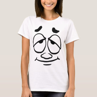 Slightly Interested Happy Smiley Face T-Shirt