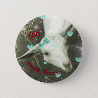 """Slightly Satanic"" Goat Pin"