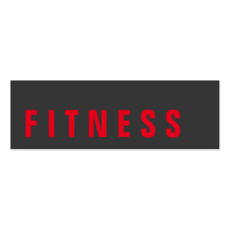 Slim Grey Red Unique Personal Trainer Pack Of Skinny Business Cards