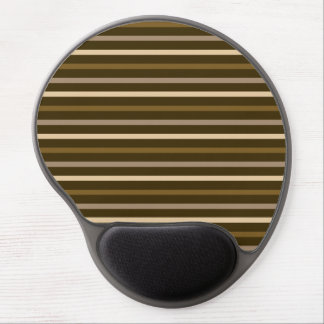Slim Horizontal Stripes Cream & Browns Gel Mouse Pad