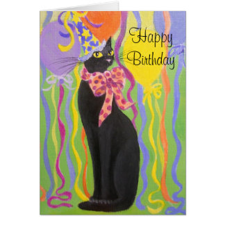 SLIM KITTY, BIRTHDAY CARD
