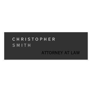 Slim Modern Gray Attorney at Law Business Card