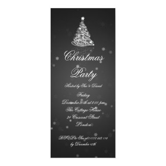 Slim Party Invitation Elegant Modern Tree Black