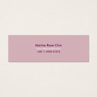 Slim Pink Business Card