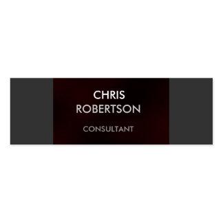 Slim Plain Gray Dark Red Attractive Business Card