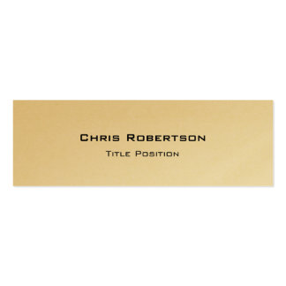 Slim Trendy Gold Charming Business Card