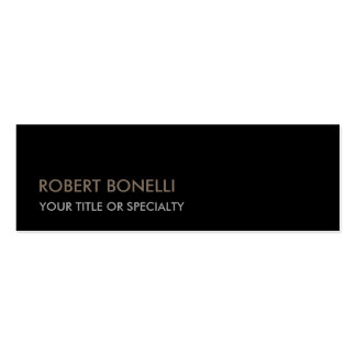 Slim Unique Modern Black Stylish Double-Sided Mini Business Cards (Pack Of 20)