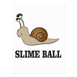 slime ball snail postcard