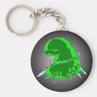 Slime Monster Basic Round Button Key Ring