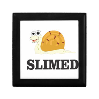 slimed snail small square gift box