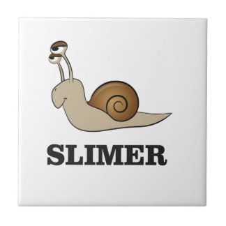 slimer the snail small square tile