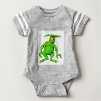 Slimey Green Monster Baby Bodysuit
