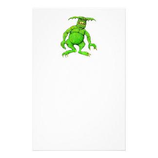 Slimey Green Monster Stationery