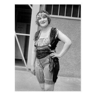 Slimming Stripes, 1920s Postcard