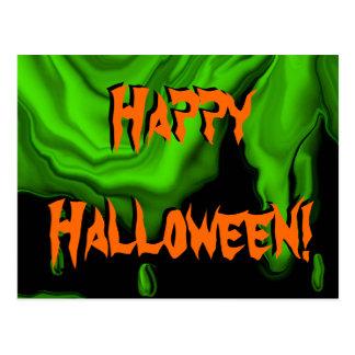Slimy Halloween postcard