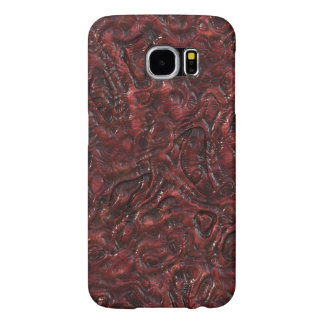 Slimy Red Organic Weird Alien Flesh Texture Samsung Galaxy S6 Cases