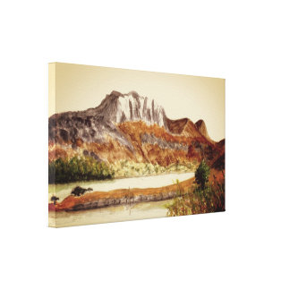 Slioch and Loch Maree Canvas Print