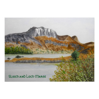 Slioch and Loch Maree Poster