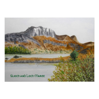 Slioch  and Loch Maree Print