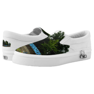 Slip On Shoes PHOTOGRAPH OF GRAFFITI Printed Shoes