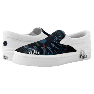Slip On Shoes SPEEDOMETER FINISH FLAG Printed Shoes