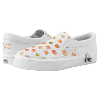 Slip on shoes with pumpkins printed shoes