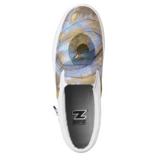 Slip-on sneaker eye blended with light blue cream printed shoes