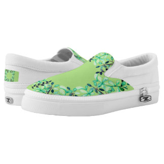 Slip On With Green Top and Leaf Wreath