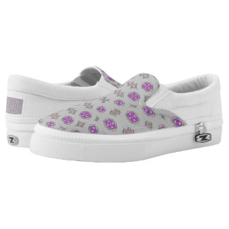 SLIP ON'S - SOLAR GRAY AND PURPLE PRINTED SHOES