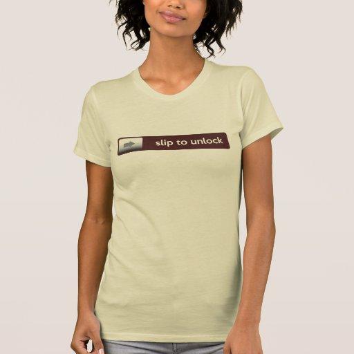 slip to unlock t-shirt