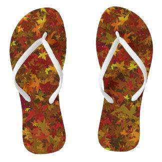 Slipper leaves autumn thongs