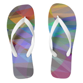 Slipper Prints Abstract Thongs