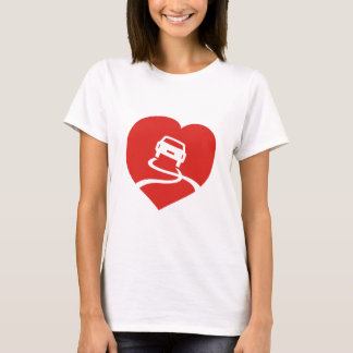 Slippery Love Sign ladies t-shirt
