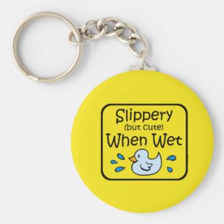 Slippery When Wet Baby Key Ring