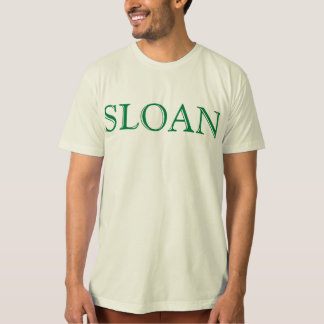SLOAN SHIRT GREEN LETTERS
