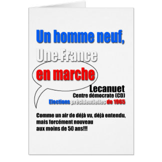 Slogan En Marche greeting Card