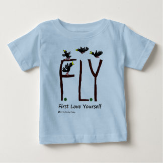 Slogan FLY First Love Yourself Baby T-Shirt