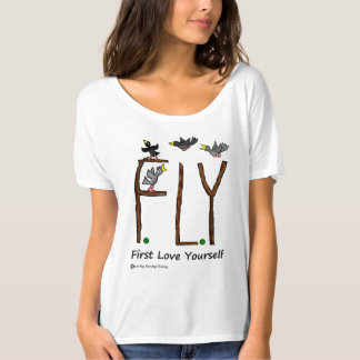 Slogan FLY First Love Yourself T-Shirt
