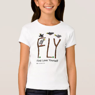 Slogan FLY First Love Yourself T Shirt