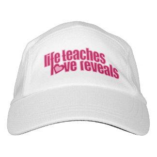 Slogan life teaches love reveals pink hat