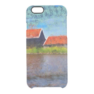 Sloping red roofs clear iPhone 6/6S case