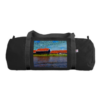 Sloping red roofs gym bag